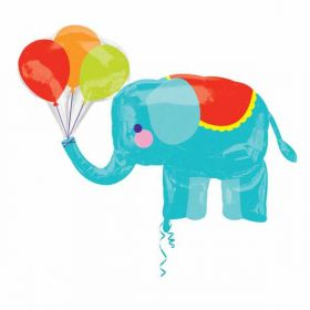 Circus Elephant SuperShape Foil Balloon