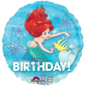 Ariel Happy Birthday Foil Balloon 18''