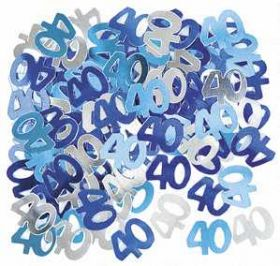 Blue Glitz 40 Party Confetti