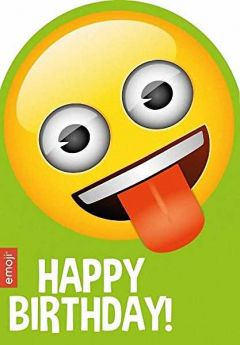 Emoji Tongue Happy Birthday Card