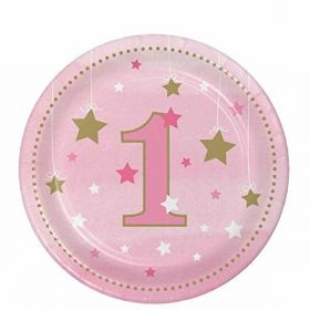 One Little Star Girl Lunch Plates pk8