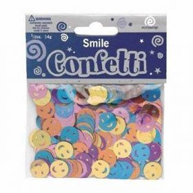 Smiles Assorted Metallic Confetti