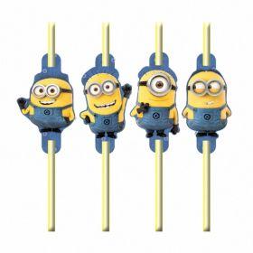 Minions Straws pk8