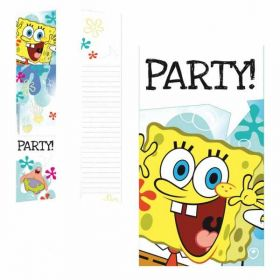 Spongebob Squarepants Party Invitation Cards pk6