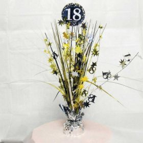 Gold & Silver Sparkling Celebration 18th Centrepiece Sprays 33cm