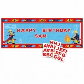 Fireman Sam Personalised Banner 1.2m