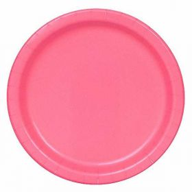 Hot Pink party plates pk16