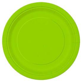 Neon Green Plates 9''