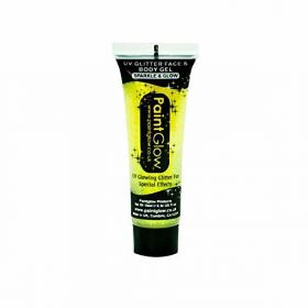 UV Glitter Face & Body Gel - Yellow