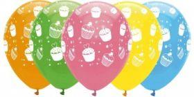 Sweet treats latex balloons pk6