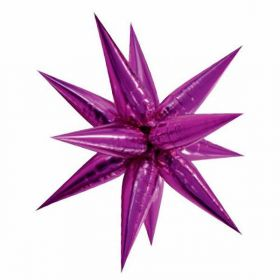 Large Pink Glitz 3D Star Foil Balloon