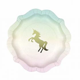 We ♥ Unicorns Paper Plates pk12