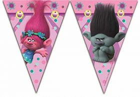 Trolls Party Plastic Flag Banner 2.3m
