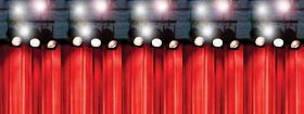 Curtains & Lights Room Decoration Top Panel