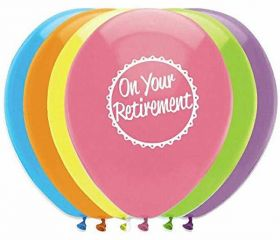 On Your Retirement Helium Quality Latex Balloons, pk6