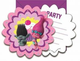 Trolls Invitations pk6