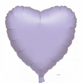 Lilac Metallic Heart Foil Balloon