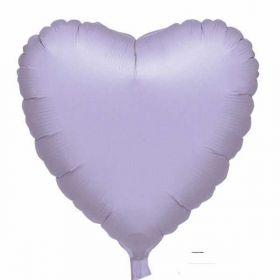 Lilac Metallic Heart Foil Balloon