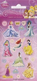 Disney Princess Party Bag Stickers pk6