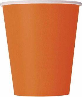 Orange paper cups pk14
