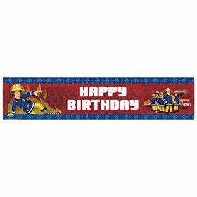 Fireman Sam Happy Birthday Holographic Banner