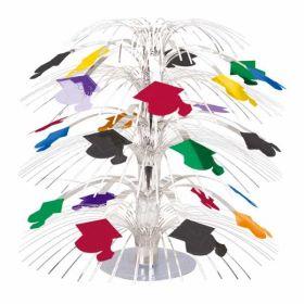 Graduation Mini Foil Cascade Centrepiece