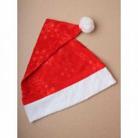 Snowflake detailed Fabric Christmas Santa hat