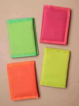 Plain Neon Velcro Wallet