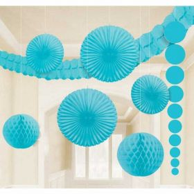 Caribbean Blue Room Decoration Kit