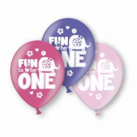 Fun to be One Latex Balloons Pink Mix pk6