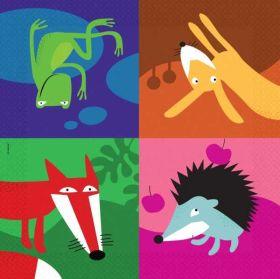 Animals Napkins pk20