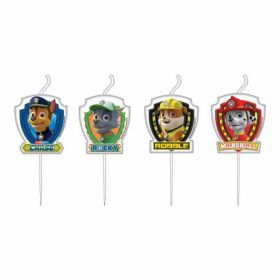 Paw Patrol Mini Figurine Candles pk4