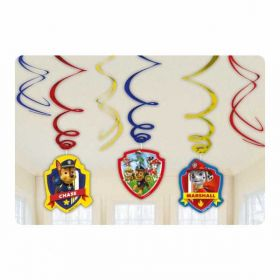 Paw Patrol Swirls Decorations pk6