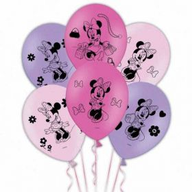 Minnie Mouse Bow-tique Balloons pk6