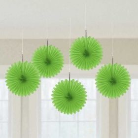 Kiwi Green Hanging Mini Fans 5pk
