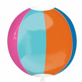 Beach Ball Orbz Foil Balloon