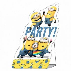Minions Party Invitations & Envelopes, pk8