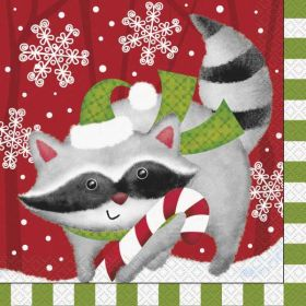 Woodland Christmas Lunch Napkins pk16