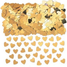 Sparkle Hearts Gold Confettie 14g