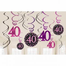 Age 40 Hanging Decorations