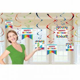 Rainbow Customisable Swirls Decoration