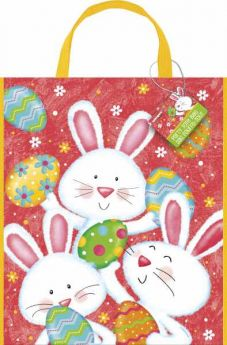 Happy Easter Bunny Plastic Totebag