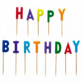 Happy Birthday Pick Candles 13pk