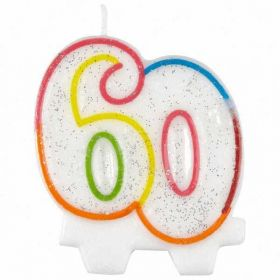 60th Milestone Birthday Candle