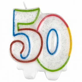 50th Milestone Birthday Candle