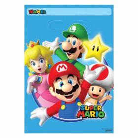 Super Mario Folded Loot Bags pk8