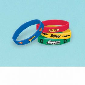 Justice League Rubber Bracelets pk4