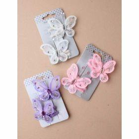 Card of 2 Net Butterfly Elastics