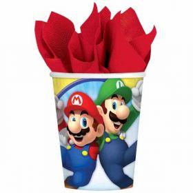 Super Mario Paper Cups 266ml pk8