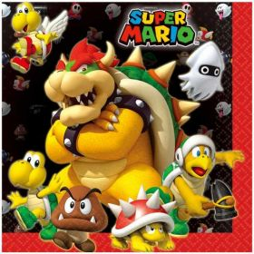 Super Mario Luncheon Napkins pk16
